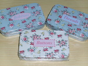 Brand New Classic - Chic Style Pretty Floral Design Storage Tins