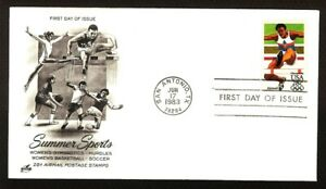 "FIRST DAY COVER #C102 Olympic Hurdles ~ ""Summer Sports"" U/A ARTCRAFT FDC 1983"