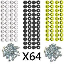 Número de matrícula del coche de fijación de montaje Kit Tornillos & Caps X 64