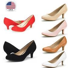 Women's Slip On Pump Shoes Bridal Wedding Party Low Heel Pump Dress Shoes
