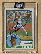Dave Stewart 2020 Topps Archives Signature Series Autograph 1983 #18/35 Dodgers