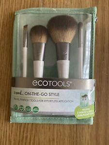 Eco Tools On-The-Go Style Kit, Travel Friendly 4 Piece Brush Set & Case