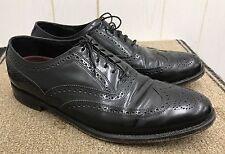 FLORSHEIM Wingtip Dress Shoes Mens 10.5 Black Leather Lace Up Wedding Business