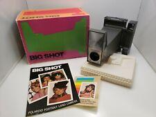 De Colección Cámara Polaroid Retrato tierra Big Shot Caja (algunos daños) Manual Warhol