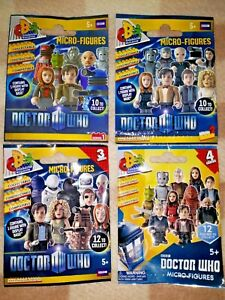 Doctor Who Character Building Micro Figures Series 1,2.3.NS,4 Mystery Packs