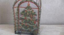 Vintage Glass Panel Christmas Candle Holder
