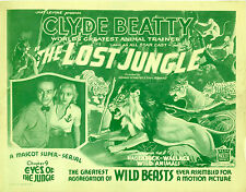The Lost Jungle 1934 Mascot serial in case with artwork Ships Free Clyde Beatty