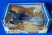 STAR WARS A New Hope LANDSPEEDER w LUKE SKYWALKER 2002 Hasbro ~ NIB NEW