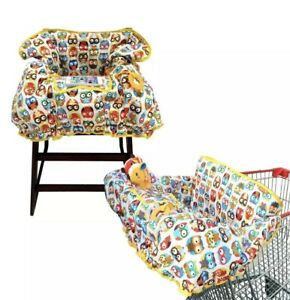 Crocnfrog 2-in-1 Shopping Cart Cover   High Chair Cover for Baby   Large