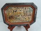 Vtg Handpainted Handcrafted Folk Art Souvenir Plate-South America URUGUAY