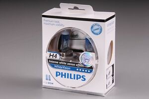 2 ampoules H4 + W5W Philips WhiteVision PEUGEOT 206 3/5