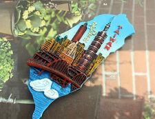 China TaiWan Tourist Travel Souvenir 3D Resin Decorative Fridge Magnet Craft