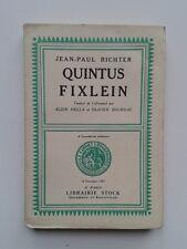 """Jean-Paul RICHTER """" Quintus Fixlein """" 1/100 exs HORS COMMERCE, Stock 1927"""
