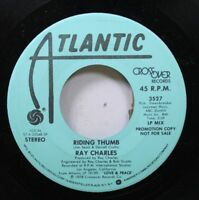 Soul Promo 45 Ray Charles - Riding Thumb / Riding Thumb On Atlantic