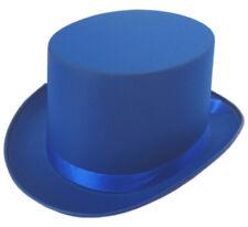 Top Hat Satin Blue 59cm Adult Fancy Dress