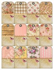 12 Shabby Chic Country Cottage Vintage Hang Tags Scrapbooking Paper Crafts (173)