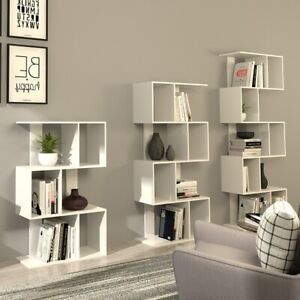 White Shelving Unit 5 Tier Display Stand Book Shelf Wall Rack Storage Bookcase