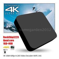 Android 6.0 Smart TV Box 4K Quad Core 1080P 3D WiFi H.265 DLNA Media Player P3G9