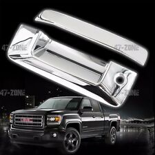 For 2014-2015 GMC Sierra ABS Plastic Chrome Tailgate Handle Cover No Camera Hole