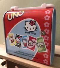 Hello Kitty UNO Card Game w/ Collector Tin (2003) Sanrio / Mattel / Sababa Toys