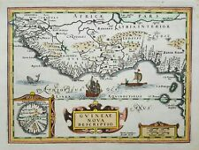 Original antique map of West Africa by Direk Cornelissen Swardt from 1690