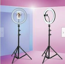 "10"" LED Ring Light Stand Kit Dimmable 5500K photography USB for Makeup Phone"