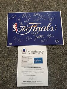 Golden State Warriors 2014/15 Team Signed Finals 11x17 Poster CURRY KLAY GREEN++