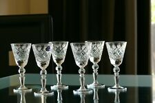 DIAMOND CUT pattern SHOT (35ml) High quality CRYSTAL glasses, Set of 6, Russia