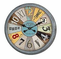 "Colossal Sized Retro Shabby Chic Wall Clock. 80cm Diameter (31"" +) 8380"