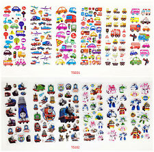 Children's cartoon sticker 3D stereoscopic animation 12sheets / lot kids gift