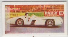 Grand Prix Mercedes Race Car Driver Juan Fangio Vintage Ad Card