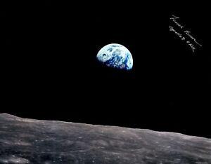 Apollo 8 Commander Frank Borman Signed Earthrise Photograph with COA!!