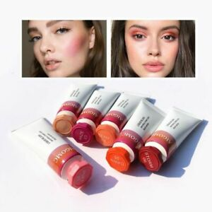 HOT!🔥 Cloud Creamy Gel Paint Liquid Gentle Rouge Contour Makeup Blush Peach