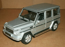 1/24 Scale Mercedes-Benz G500 Diecast Model G-Class Wagon - Welly 24012 Silver