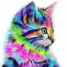 Home Decor Canvas Paint By Number Digital Hand Oil Painting DIY Kit Colorful Cat