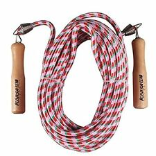 KANSA 32.8ft Double Dutch Jump Ropes Wooden Handle Ergonomic Durable and Easily
