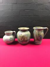 More details for 3 x rare bourne denby danesby ware large vases / jugs 2 x 8.25