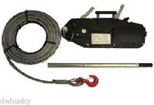 1600kg Jet Hoist Winch Complete With 20m Wire Rope For Arborist Use & Others Use