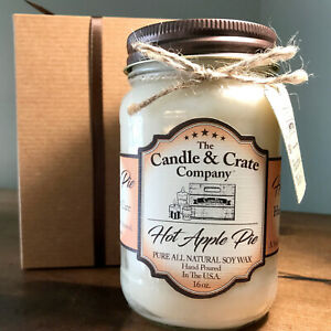 Hot Apple Pie, Soy Candle, Candle Gift, Highly Scented Candle, Free Shipping!