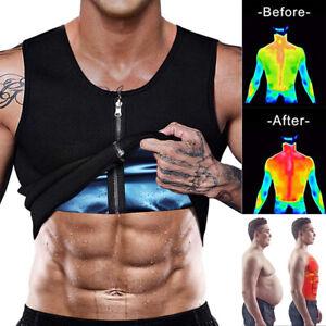 Men Sweat Vest Polymer Slimming Shirt Weight Loss Sauna Suit Waist Trainer Top