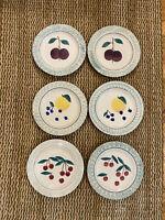 Hartstone USA Set Of 6 Fruit Salad Plates