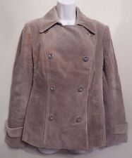 Per Una UK16 EU44 US12 stone corduroy lined double-breasted jacket