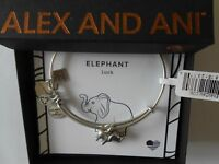 Alex and Ani ELEPHANT II Bangle Bracelet Rafaelian Silver New Tag Box Card 2017
