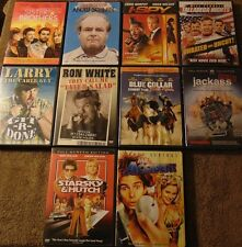 Lot of 10 COMEDY DVDs - Will Ferrell  Johnny Knoxville  Ron White  Owen Wilson +