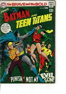 Brave And The Bold 83 Batman Teen Titans VG+ 1969 Glossy
