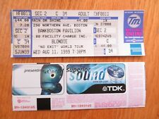 UNUSED BLONDIE August 11, 1999 BANK BOSTON PAVILION Ticket DEBBY HARRY