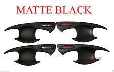 FIT TOYOTA HILUX REVO M70 M80 2016 4DR MATTE BLACK BOWL HANDLE INSERT COVER TRIM