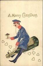 Christmas Fantasy Soldier Uniform w/ Monocle Riding Giant Champagne Bottle PC