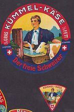 Ancienne  étiquette fromage  Suisse   BN16806 Homme Vache 2