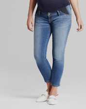 Ingrid Isabel Maternity Jeans 10 30 Skinny Cropped Stretch Side Panel | NEW!
